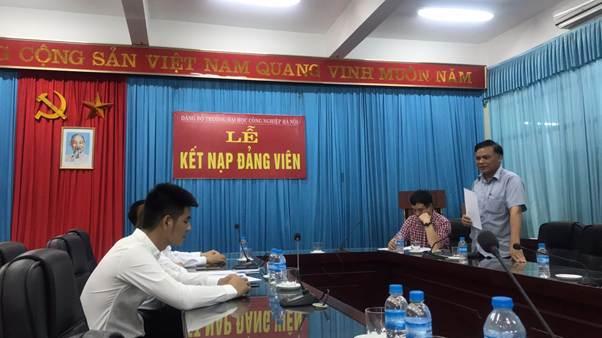 Chi bộ khoa Điện tổ chức Lễ kết nạp đảng viên và sinh hoạt định kỳ tháng 7 năm 2019