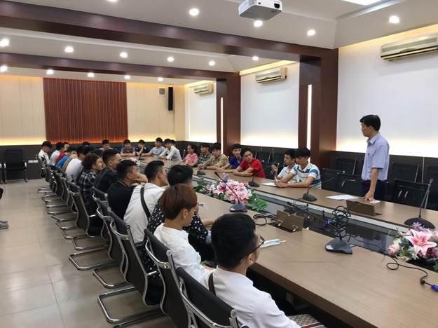 Khoa điện tổ chức gặp mặt triển khai đợt thực tập tốt nghiệp cho các lớp CĐ K19