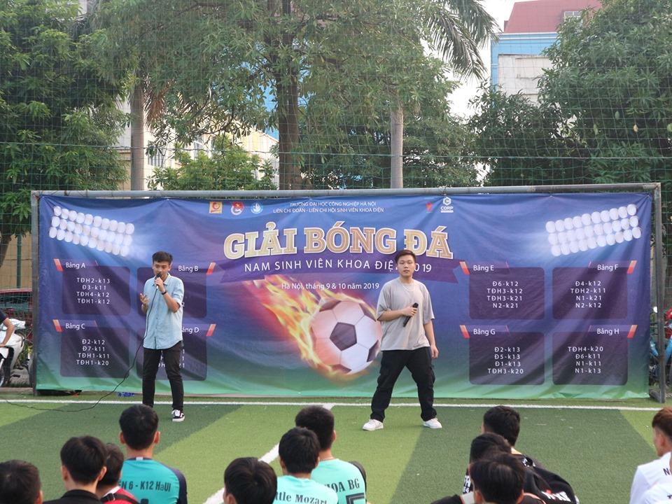 Khai mạc giải bóng đá nam sinh viên khoa Điện 2019