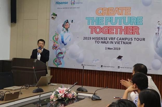 """Khoa Điện phối hợp với Công ty Hisense Hitachi Việt Nam tổ chức Hội thảo """"Cùng nhau kiến tạo tương lai"""""""
