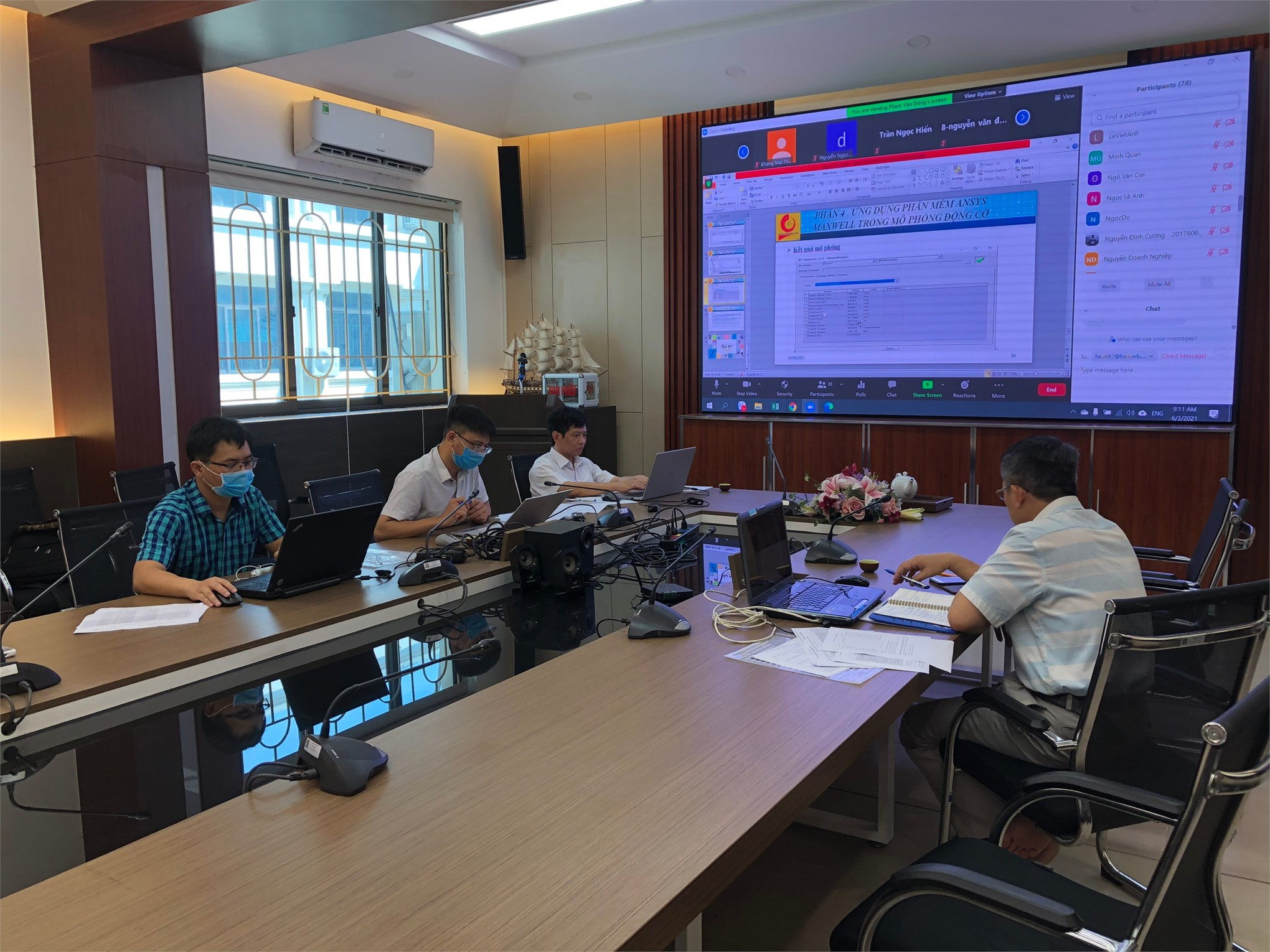 Nghiệm thu đề tài sinh viên NCKH cấp trường năm học 2020-2021 tại Hội đồng chuyên môn ngành Điện