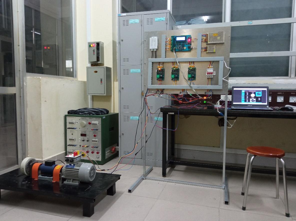 """Nghiệm thu đề tài NCKH cấp trường """"Nghiên cứu thiết kế chế tạo mô hình đo hiệu suất động cơ điện ứng dụng trong sửa chữa, bảo dưỡng công nghiệp"""""""