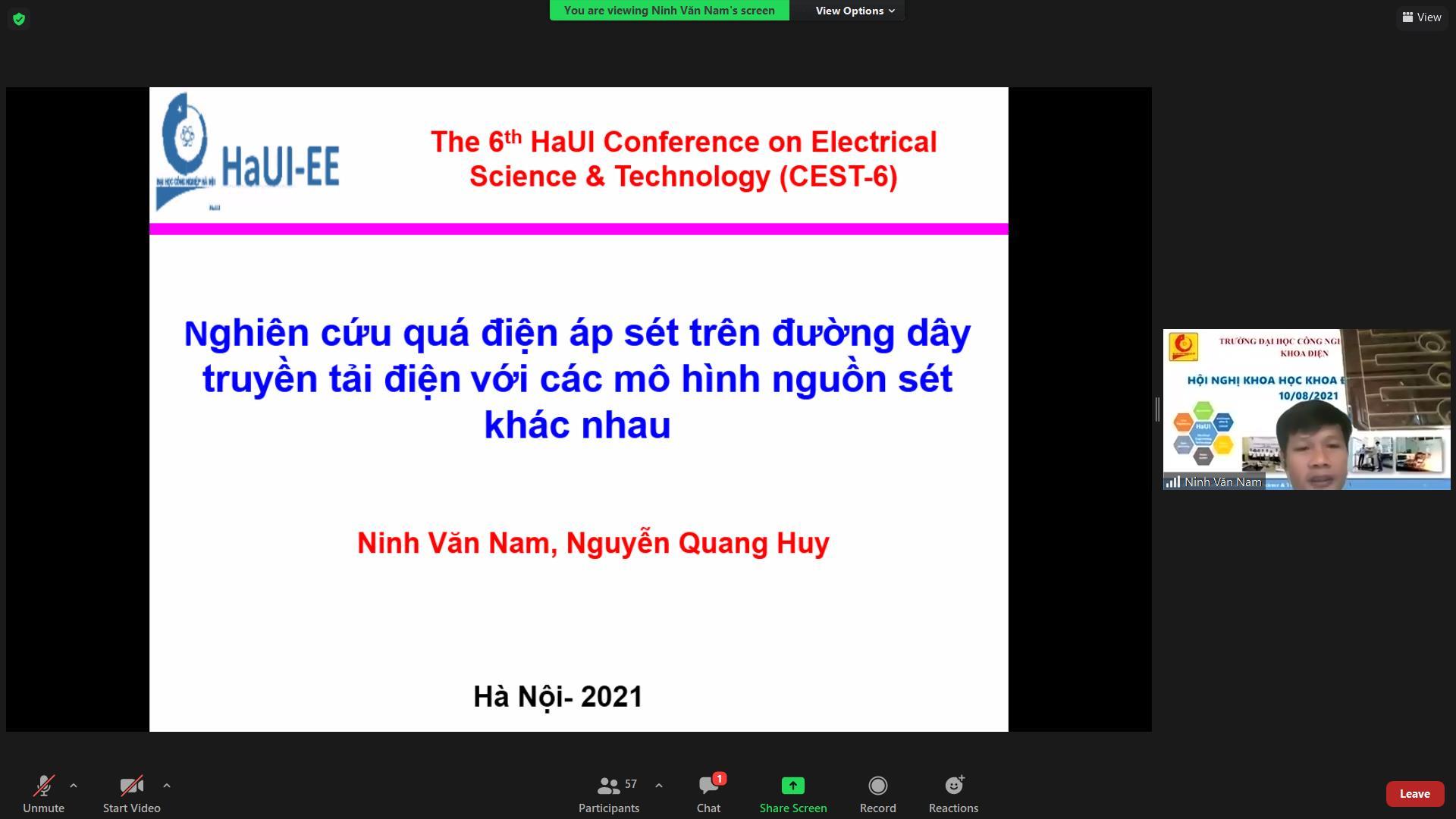 Hội nghị khoa học khoa Điện lần thứ 6 thành công tốt đẹp